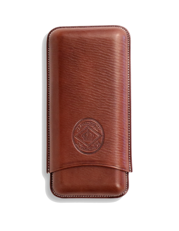 Diamond Crown Churchill Chocolate Leather Cigar Cases