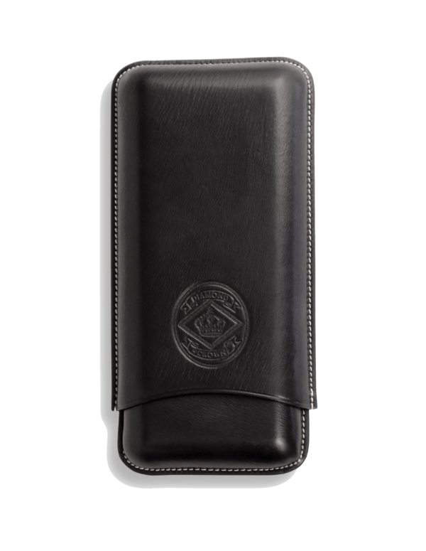 Diamond Crown Churchill Black Leather Cigar Cases