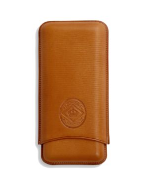 Diamond Crown Churchull Tan Leather Cigar Case