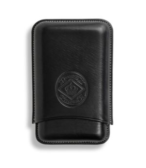 Diamond Crown Leather Cigar Case Black Robusto Size