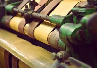 Tobacco Wrapper Stripping Machine Close Up