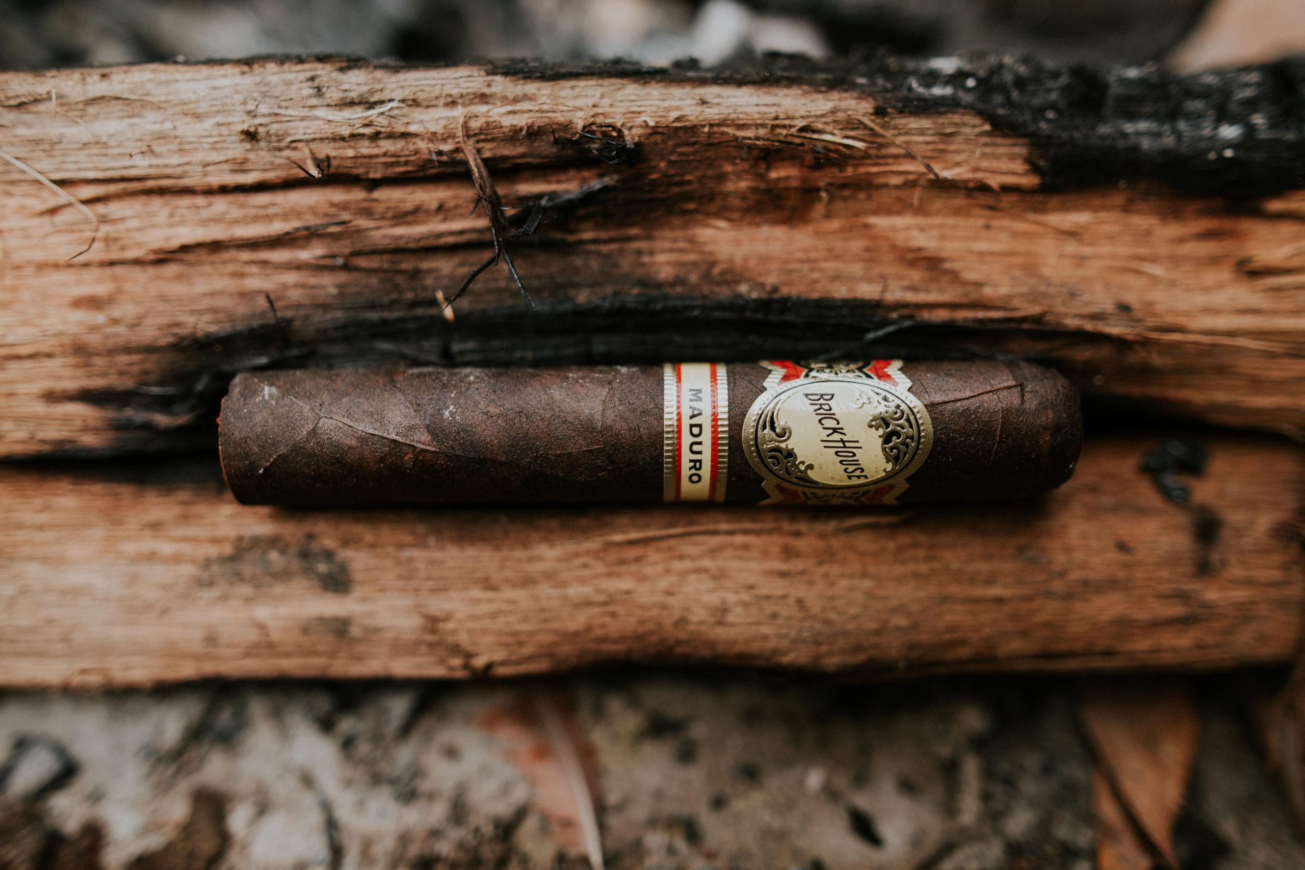 Brick house maduro cigar wood