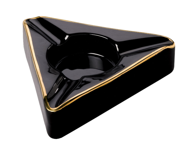 Trident Triangle Black Cigar Ashtray