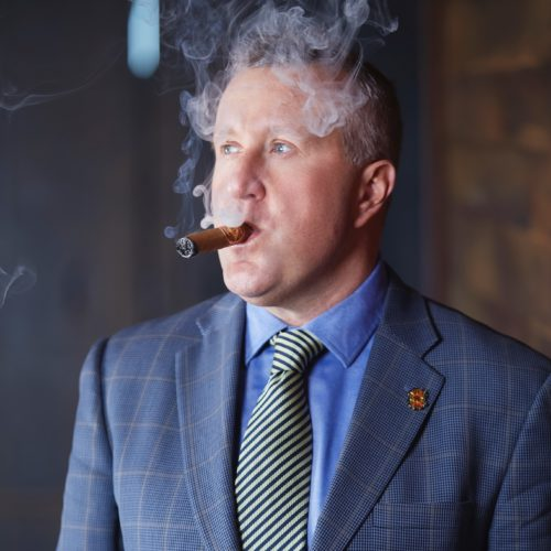 Mark Hayes Smoking Diamond Crown Cigar Regional Sales Manager