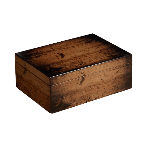 Rustic Cigar Humidor Box Closed
