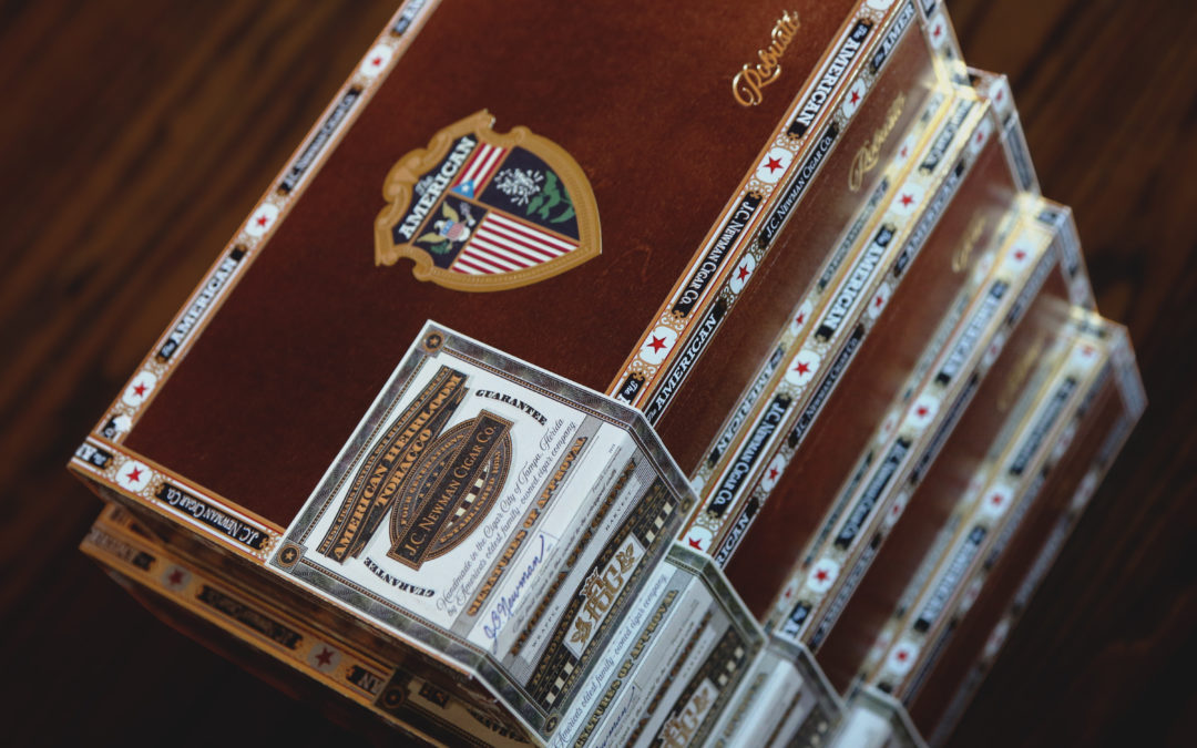 The American Cigar Stacked boxes 8x10