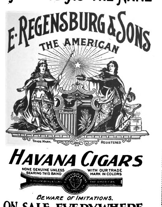American Cigar Ad Black and White