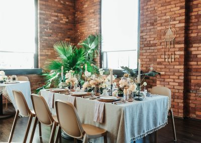 wedding table setting in tampa cigar factory